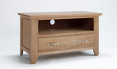 Oak TV Cabinet with 1 x drawer