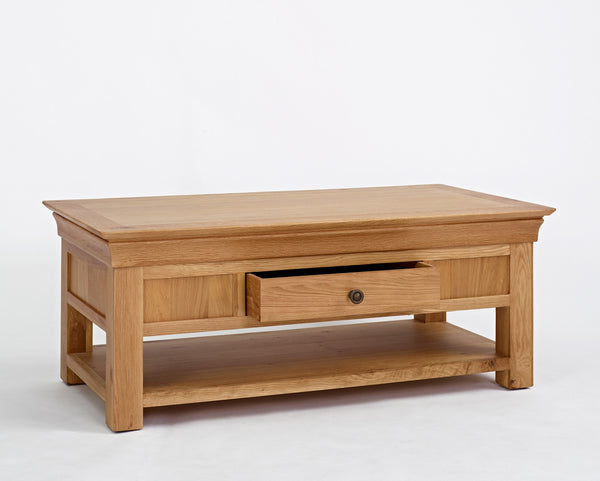 Manoir - Oak Coffee Table with Drawer