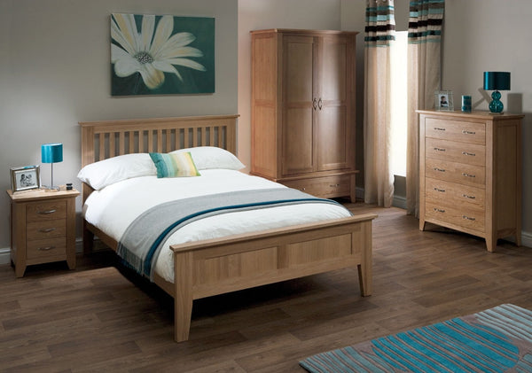 King Size Bed Oak