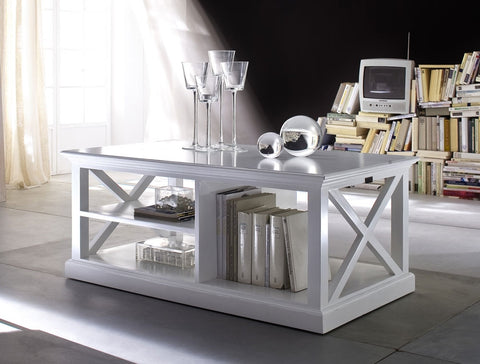Painted White Coffee table with storage