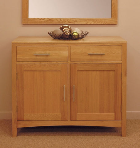 Solid oak small sideboard