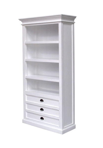 Whitstable Painted - Bookcase With 3 x Drawers