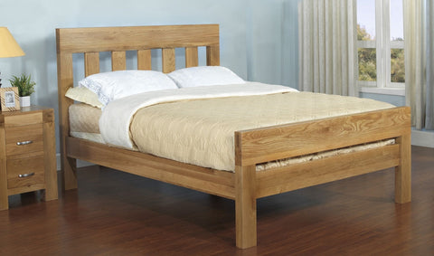 Light oak King size bed