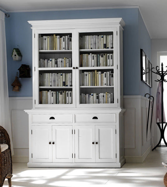 Large white painted glazed dresser
