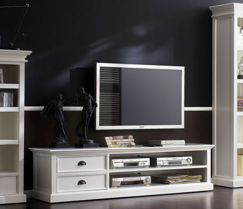 White Painted Widescreen TV cabinet
