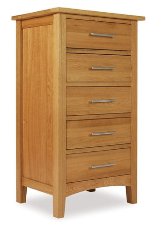 5 Drawer Wellington Chest Oak