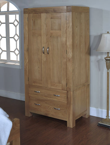 Small oak double wardrobe