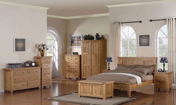 Dallington - 3 Drawer Oak Bedside Cabinet
