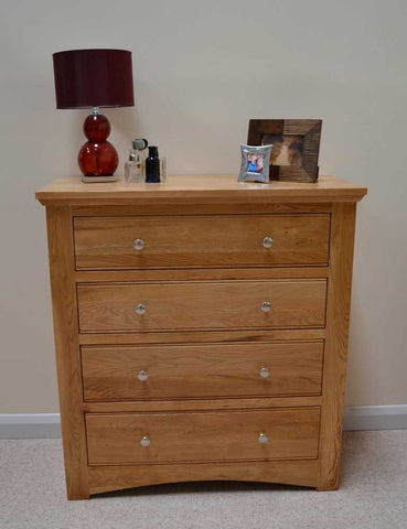 4 drawer oak chest