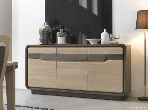 Etienne - 3 Door 1 Drawer Solid Oak Sideboard