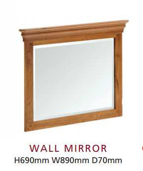Oak Framed Wall mirror