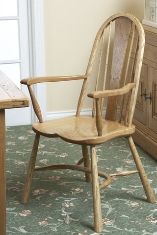 Windsor Ash Carver chair with pippy oak splat