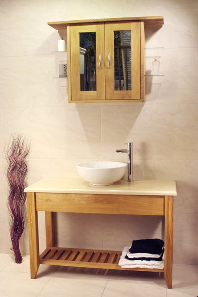 Aquarius - Large Washstand with Potboard Shelf
