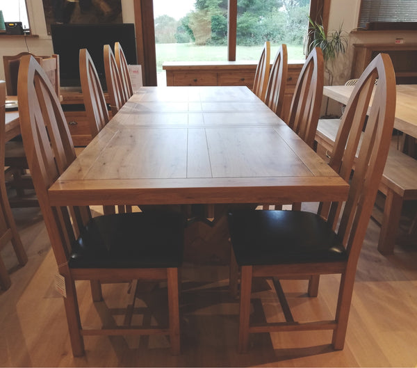 Avignon - Large Cross Leg Extending Dining Table