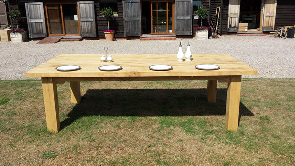 Outdoor Oak Dining Table Garden