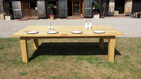 Outdoor Oak Dining Table Garden - Outside Dining Furniture