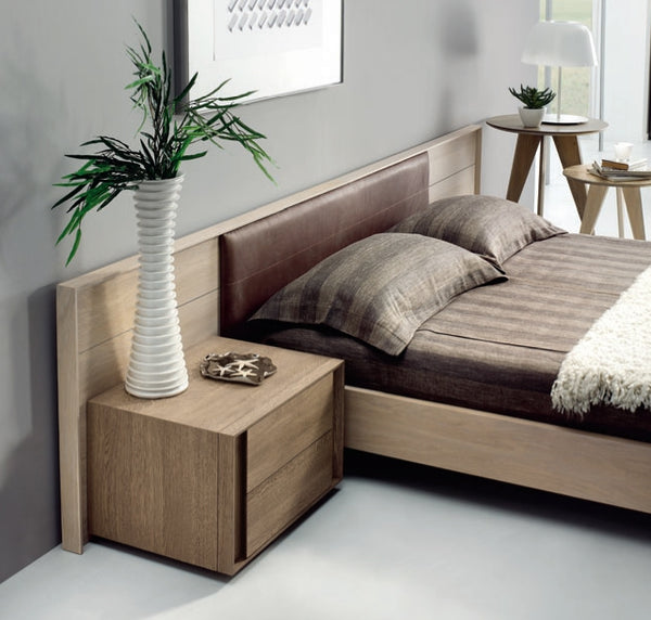 Tuscany Contemporary Solid Oak Bed