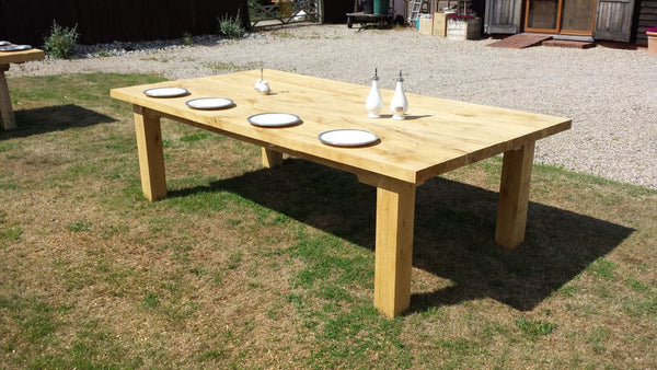 Outside Dining Furniture - Boarded Oak Garden Table