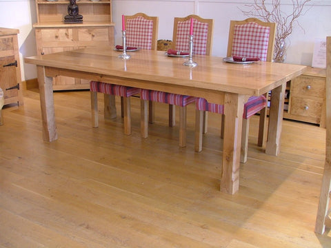 Boarded Oak Refectory Dining Table