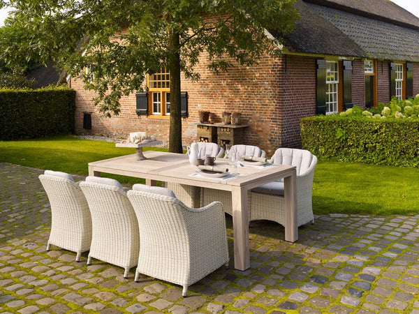 Outdoor Dining Furniture - Cannes Oak Garden Table