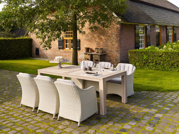Outdoor Dining Furniture - Cannes Table and Queen chairs