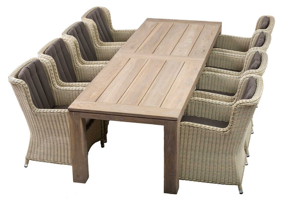 Outdoor Dining Furniture - Cannes Table and King chairs