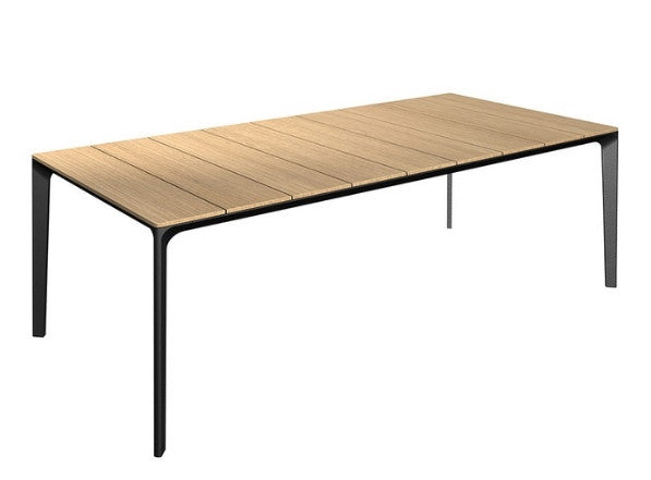 Outdoor Garden Furniture - Aluminium And Teak Table
