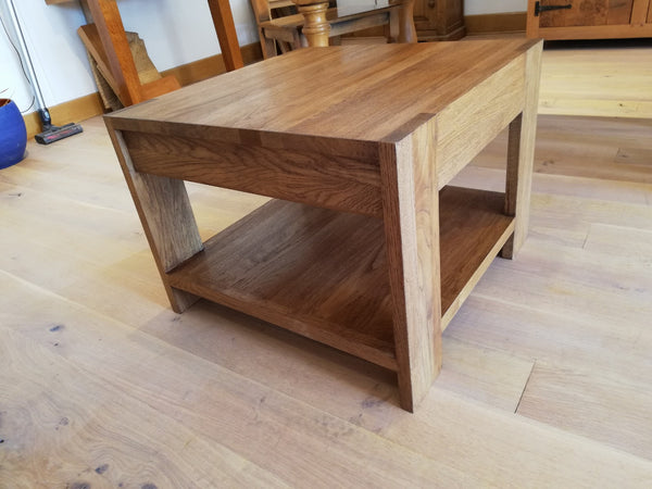 Sussex- Handmade Contemporary Solid Oak Coffee Table