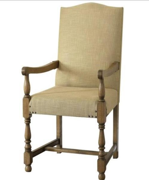 Cranbrook upholstered oak carver chair