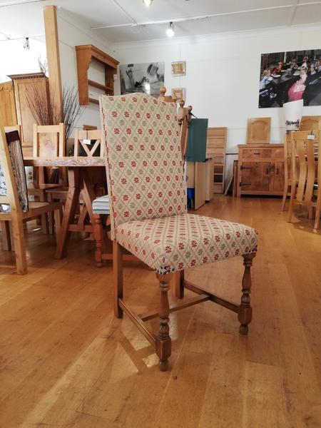 Cranbrook upholstered oak side chair