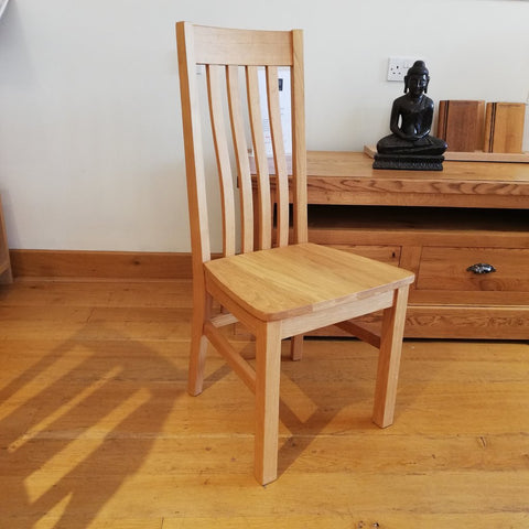 Crowhurst wooden seat side chair front view