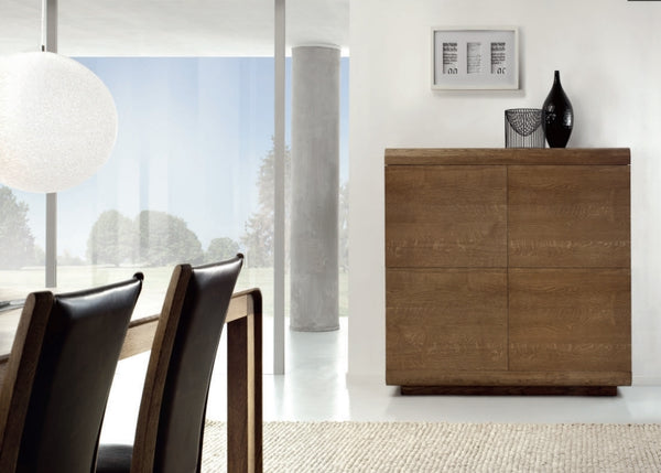 Contemporary High sideboard with curved edges