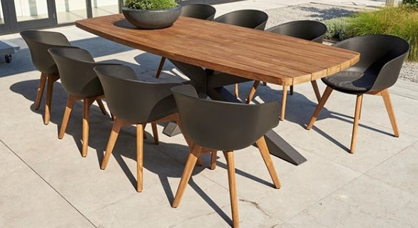 Outside Dining Furniture - Tenterden Curved Teak Table