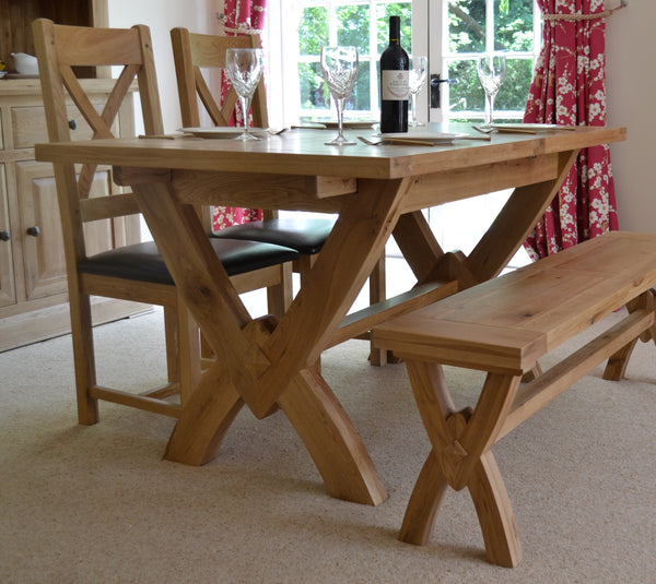 Oak Cross leg table
