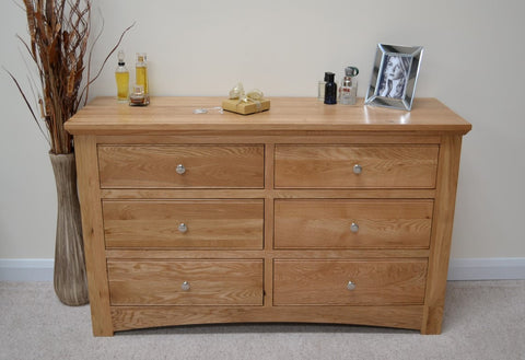6 Drawer Oak Chest