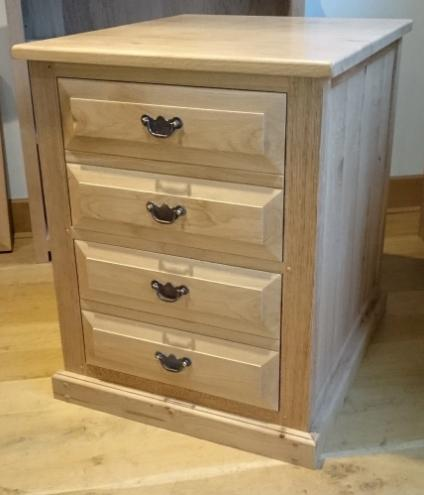 English Oak 2 Drawer Filing Cabinet