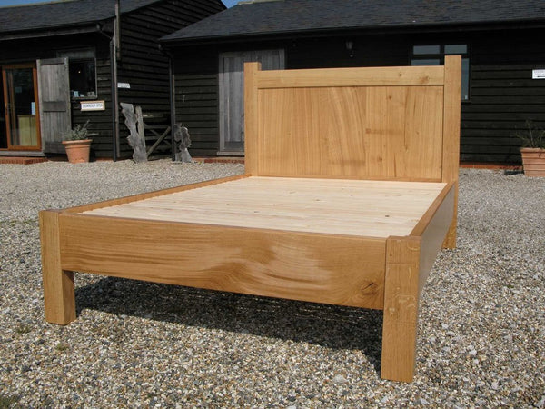 English Oak Boarded Bed outdoor photo
