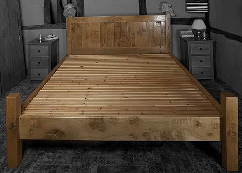 English Oak Boarded Bed room set