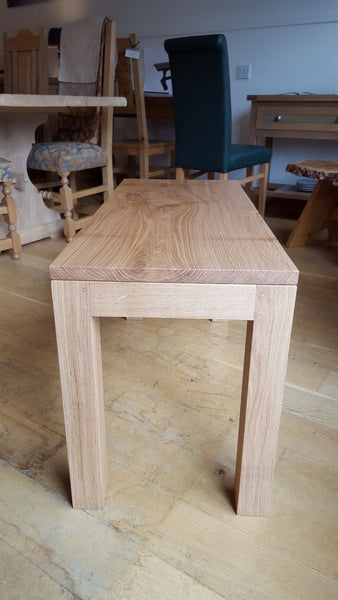 English Oak Lifestyle Coffee Table end view
