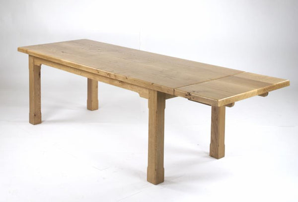 Sussex - English Oak Extending Boarded Refectory Dining Table