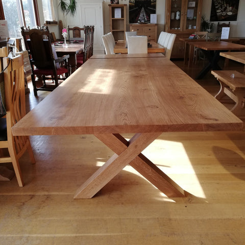 Sussex - Extending Cross Leg Dining Table