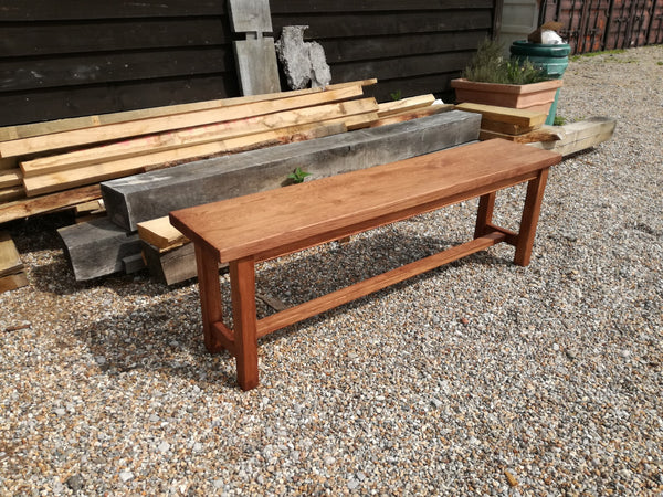 Sussex - Oak Bench with Stretchers