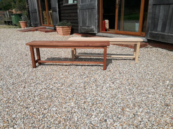 Oak Bench with stretchers