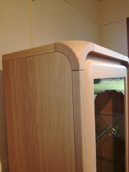 Ettiene - Oak Display Cabinet