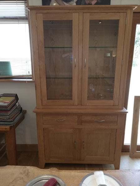 Staplecross - Small Oak Glazed Dresser