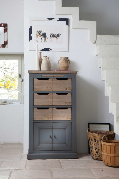Oak cupboard painted