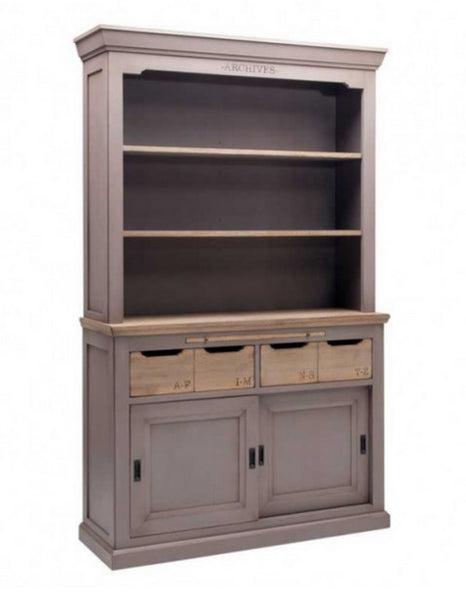 Painted dresser with oak drawers and tops