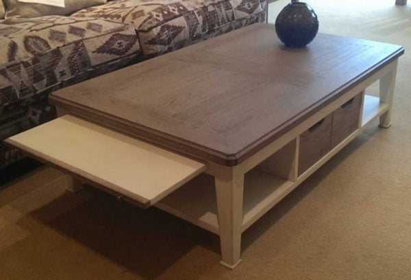 Oak Coffee Table Painted base