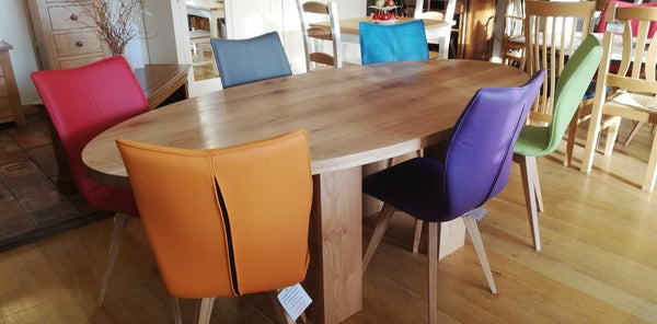 Leather Quadpod Dining Chairs Various colours