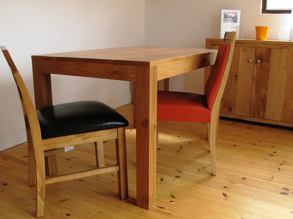 Lifestyle Contemporary Oak Table Angled